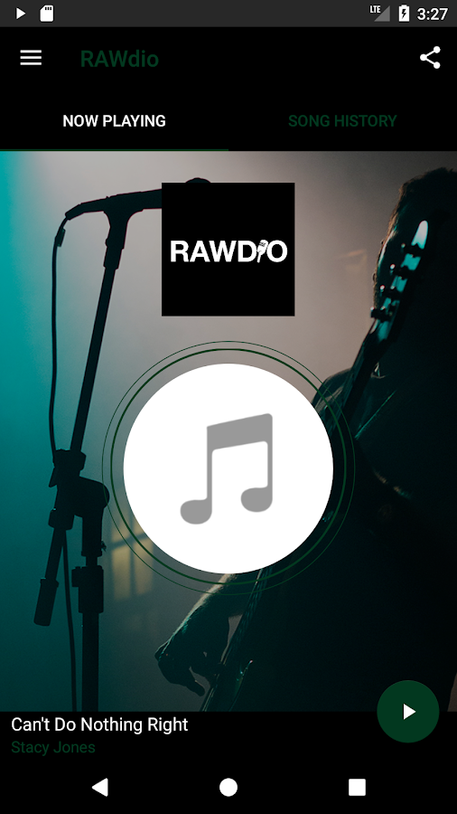 RAWdio- screenshot