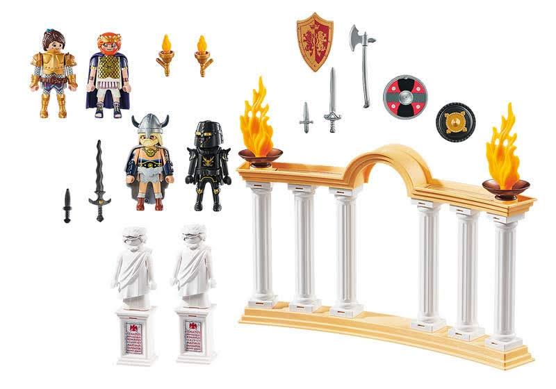 Contenido de Playmobil® 70076  Emperador Maximus en el Coliseo