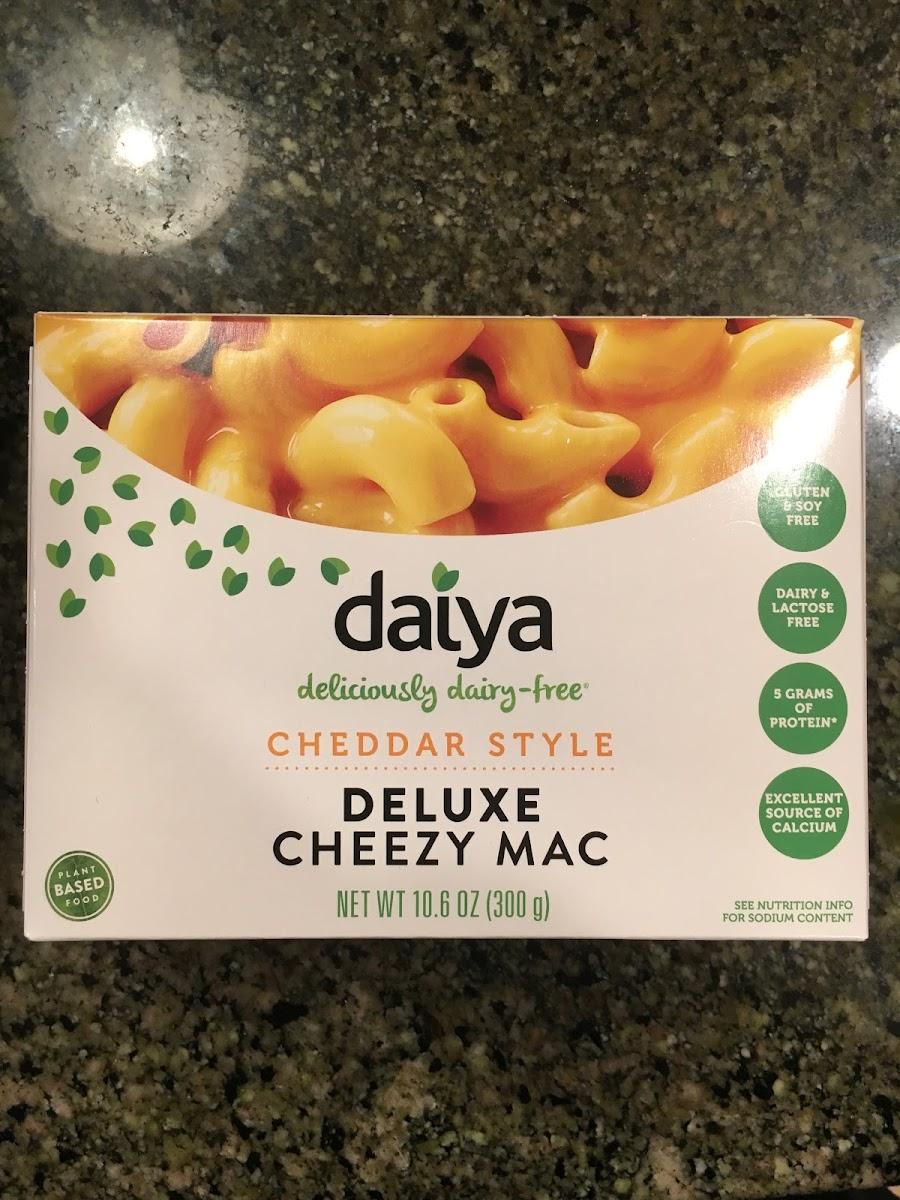 Daiya, deluxe cheddar style cheezy mac