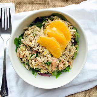 Smoked Salmon and Orange Orzo Salad