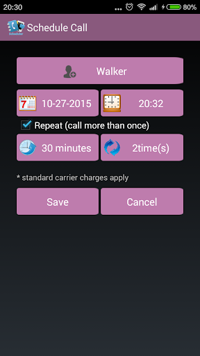 SMS and Call Scheduler