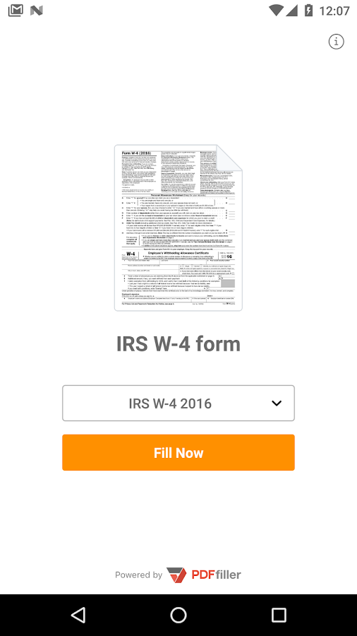IRS W-4 form- screenshot