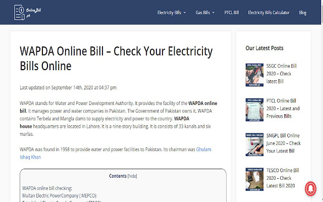 Online Bill PK