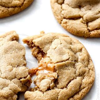 Caramel Stuffed Brown Sugar Cookies
