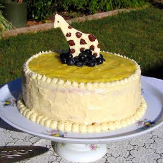 Lemon Sponge Cake with Lemon Curd Filling & Cream Cheese Frosting.