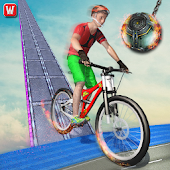 Impossible BMX Crazy Rider Stunt Racing Tracks 3D