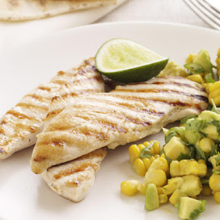 Seared Chicken with Avocado Corn Salsa