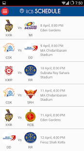 Official RCB App - screenshot thumbnail