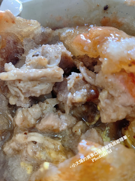 #北門口肉圓 超讚的彰化肉圓,顛覆我對肉圓的既定印象。 雖然彰化肉圓就是用炸的,但北門口的口味,皮超級無敵脆,內餡肉超軟,大顆的還有干貝,實在太美味了! 另一個驚艷的是龍髓湯,下面的是蛋,口感超鮮,是