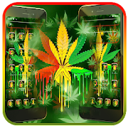 Neon Green Colorful Weed Theme