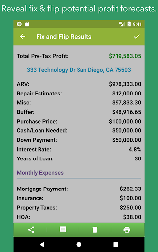 House Flip Analysis screenshot 3