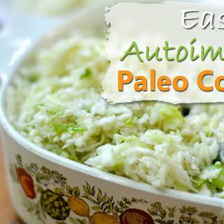 Easy Autoimmune Paleo Coleslaw (low carb, gluten free, grain free, dairy free).