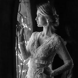Bride  by Alta Mouton - Black & White Portraits & People