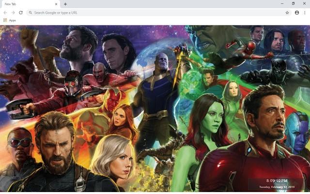 Avengers Infinity War Full HD Custom New Tab
