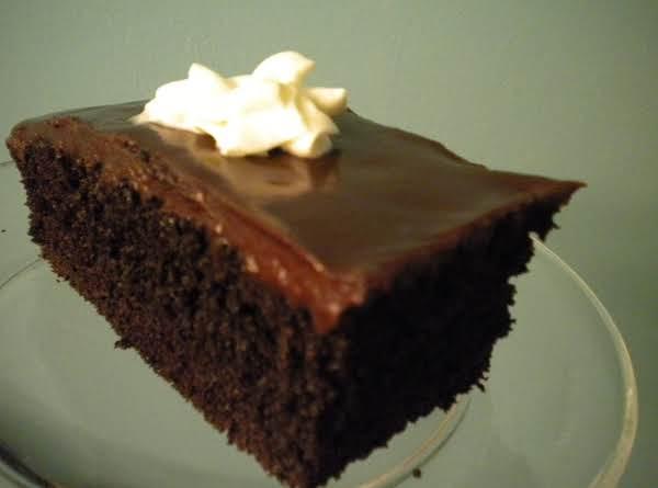 Dark Fudge Cake With Semisweet Ganache Glaze
