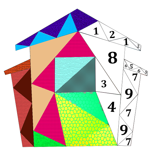 House Poly Art: Color by Number, House Puzzle Game Icon
