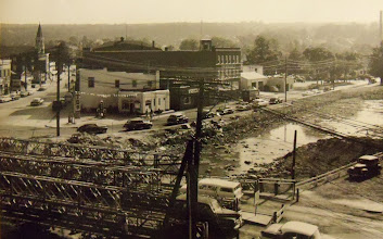 Photo: Torrington's Center Square one year after the flood.