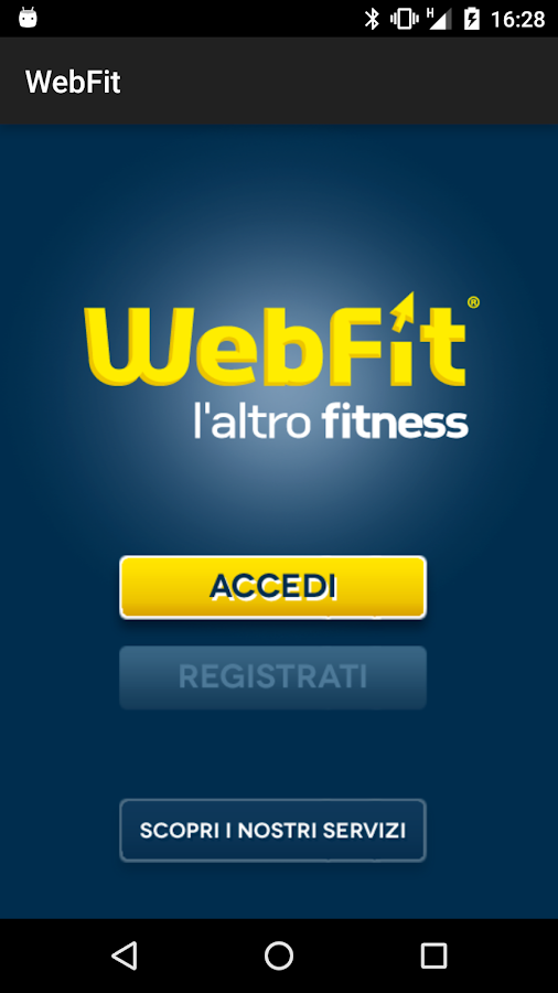 WebFit- screenshot