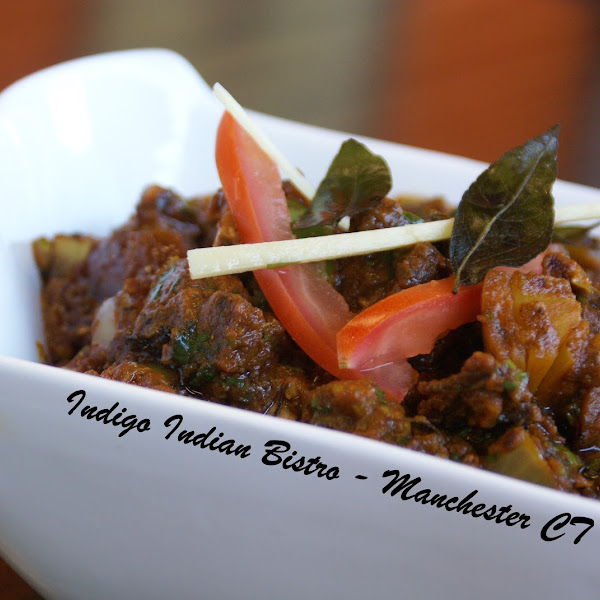 Balti Goat / Lamb ( #GlutenFree #DairyFree ) - Goat / Lamb cooked with bell pepper, tomato, mushroom, onion, chili and ground spices