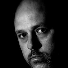 Me by Barry Jones - People Portraits of Men ( self portrait, me, Chiaroscuro, light, dark, Selfie, self shot, portrait, self portrait )