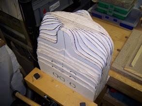 Photo: Der Spantensatz aus 4 mm Pappelsperrholz