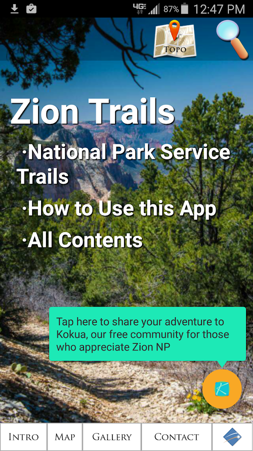 Zion National Park Trails- screenshot