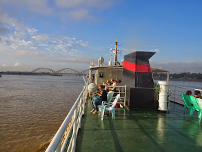 Photo: cruising the mighty Irrawaddy river