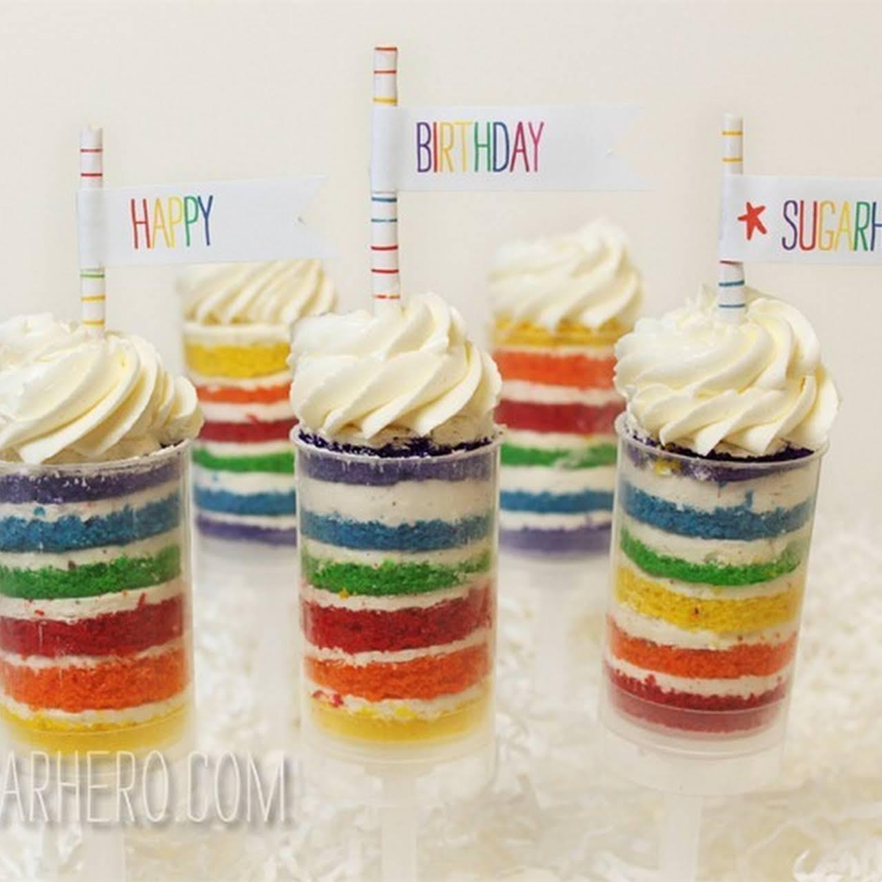 Rainbow Cake Push-Up Pops