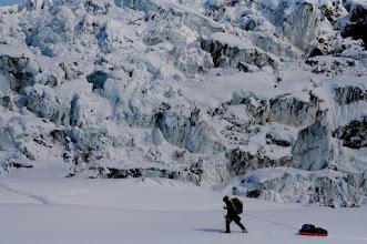 Photo: Seward Glacier icefalls