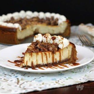 Kahlua Toffee Cheesecake with Turbinado Caramel