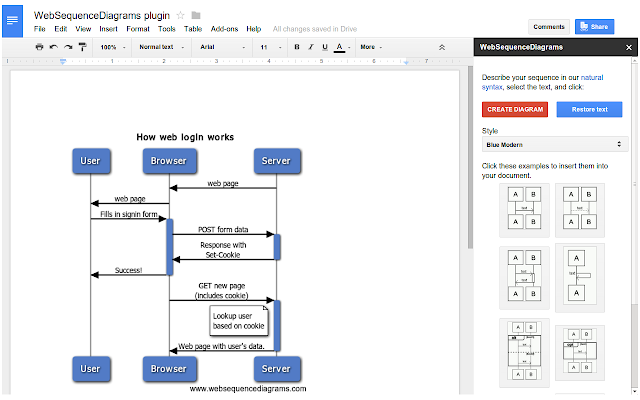 how to make a web diagram on google docs