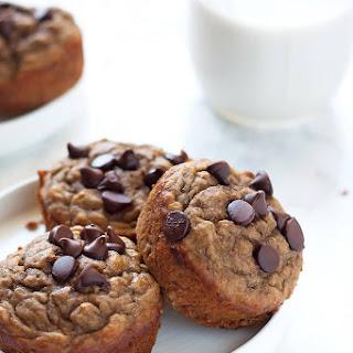 Healthy Banana Chocolate Chip Muffins.