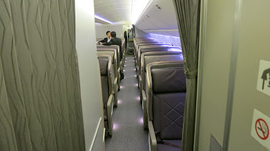 Photo: Aft business class cabin Singapore Air's new B777-300ER