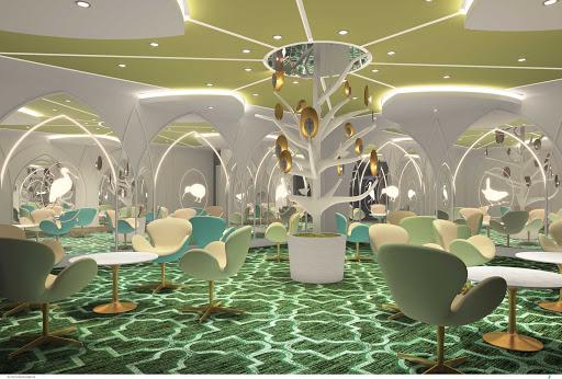 norwegian-bliss-Social-Green-Room-rendering.jpg - A rendering of the Social Green Room on Norwegian Bliss.