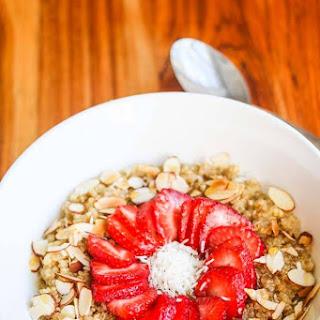 Strawberry Almond Breakfast Quinoa.