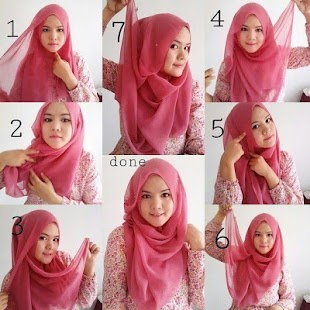 Tutorial Hijab Segi Empat Terbaru - náhled