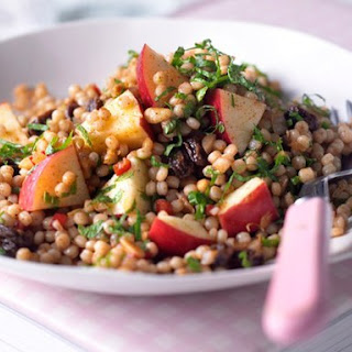 Apple and Moroccan giant couscous salad