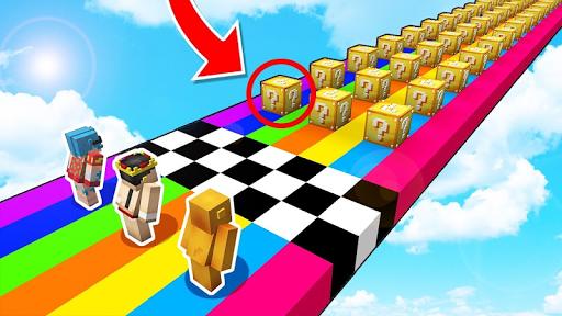 Lucky block race map for MCPE screenshots 2