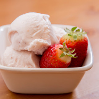 Roasted Strawberry and Buttermilk Ice Cream.