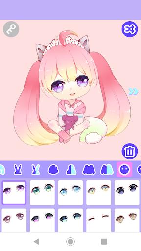 Code Triche Cute Girl Avatar Maker APK MOD screenshots 2
