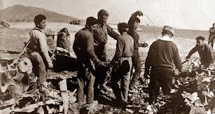 Americanos y nativos colaboraron en las labores de limpieza.