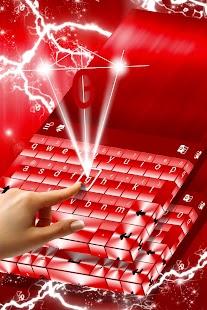 Téma červené klávesnice Chrome - náhled