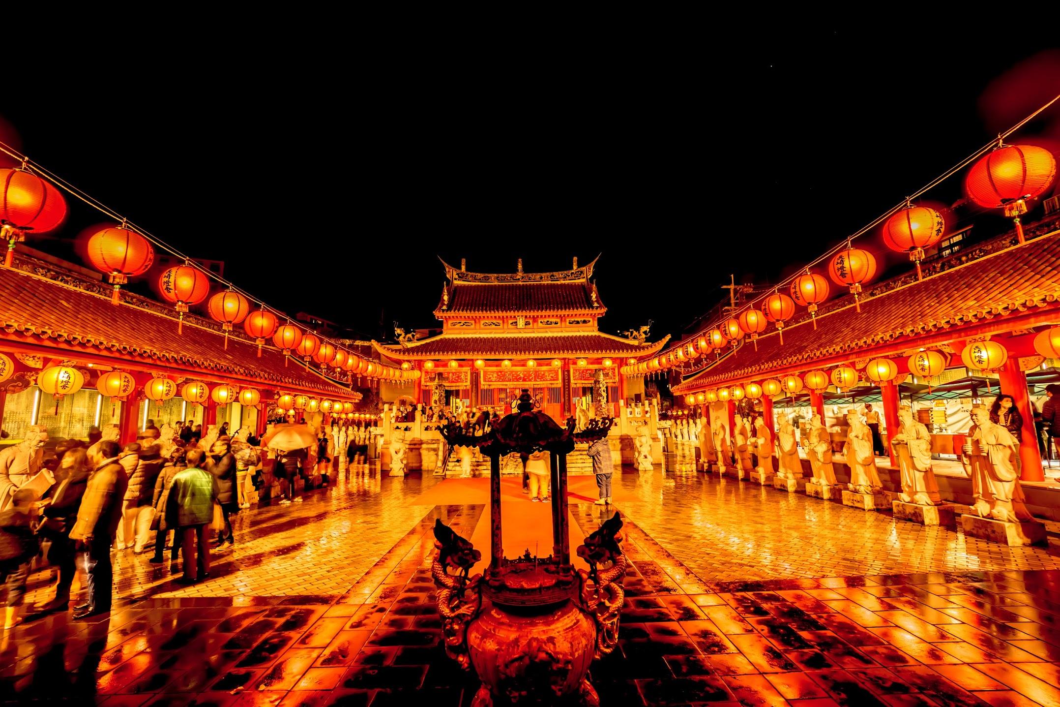 長崎ランタンフェスティバル 孔子廟2