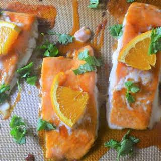 Orange Ginger Honey Salmon (Paleo, Gluten-Free, Grain-Free).