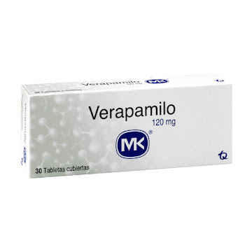 Verapamilo MK 120mg   Tableta Caja x30Tab.