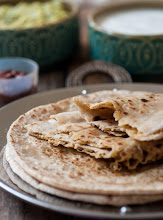 Photo: 61. Paneer Paratha Blog-Edible Garden  Your name - Nags Your blogs name and URL - Edible Garden - www.cookingandme.com Title/caption for your photo - Paneer Paratha URL of the post where the photo appears - http://www.cookingandme.com/2013/04/paneer-paratha-punjabi-paneer-paratha.html What camera and lens you used - Nikon D90 with a 60mm Nikkor Macro Lens