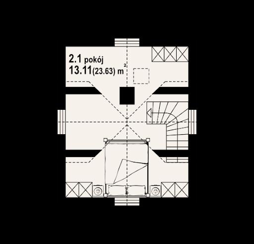 Gajowo 5dws - Rzut poddasza