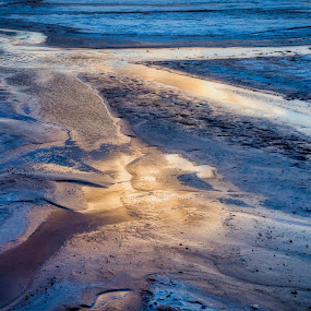 Sunset Reflections by Mike Moss - Landscapes Sunsets & Sunrises ( water, death valley, salt flat, reflection, sunset )