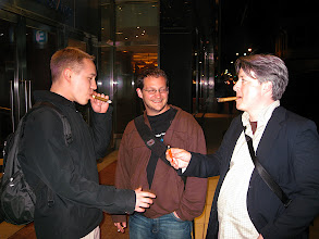 Photo: Lane and Jason ended the vening with Cuban cigars, at 2 am