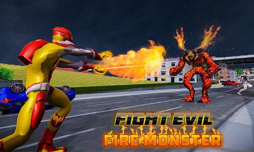 Flamme héros en volant super héros ville sauvetage  captures d'écran 1